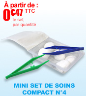 Les sets ultra compacts : le mini set de soins compact n°4 Robé Médical