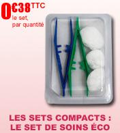 Les Sets Ultra Compacts : Le set de soins éco rond Robé Médical
