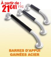 Barres d'appui en acier antidérapant