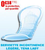 Serviettes pour incontinence légère Tena Lady