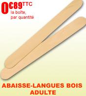 Abaisse-langue en bois adulte Robé médical, Boîte de 100