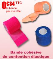 Bande cohésive de contention élastique couleur