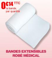 Bandes extensibles polyamide coton Robe médical