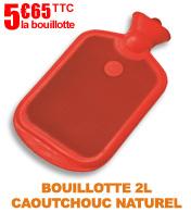 Bouillotte 2 litres caoutchouc naturel