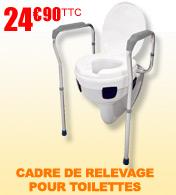 Cadre de relevage pour toilettes