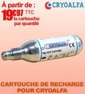 Cartouches de recharge N20 à percuter, Cryoalfa