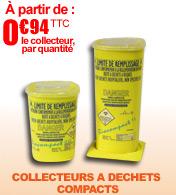 Collecteurs d'aiguilles et déchets compacts 0.6 L et 1L