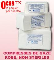 Compresses de gaze 13 fils non stériles Robé Médical