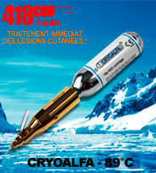 Cryoalfa perfect II  dispositif de cryothérapie pour la destruction des verrues