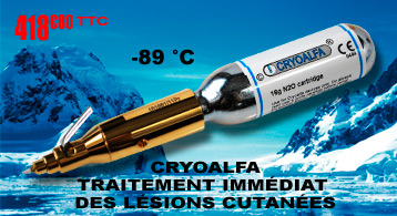 Cryoalfa Perfect II  dispositif de cryothérapie pour destruction verrues