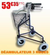 Déambulateur 3 roues Delta S127 Salamender