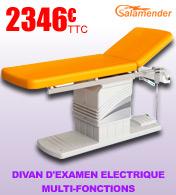 Divan d'examen fonctions multiples avec hauteur variable électrique Salamender S459