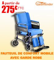 Fauteuil de confort mobile avec garde robe Salamender 585