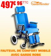 Fauteuil de confort mobile avec garde robe Salamender 588