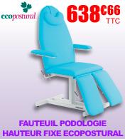Fauteuil podologie hauteur fixe Ecopostural
