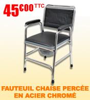 Fauteuil chaise percée acier chromé S132 Salamender