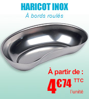 Haricot Inox  à bords roulés