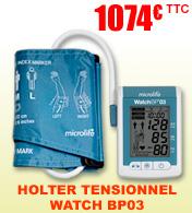 Holter tensionnel professionnel ambulatoire - MAPA avec détection de fibrillation atriale.