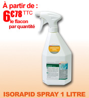 Isorapid spray désinfectant de surface