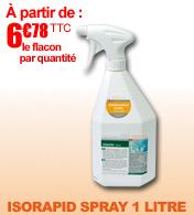 Isorapid spray désinfectant de surface