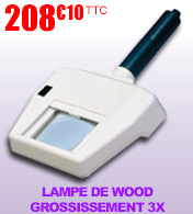 Lampe de Wood avec grossissement 3X