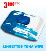 Lingettes de toilette Tena Wet Wipe
