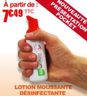 Lotion moussante non irritante pour la désinfection des mains Biosanitizer H - Flacon pocket 50 ml