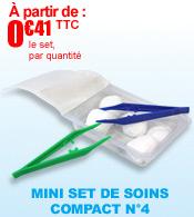 Les Sets Ultra Compacts : le mini set de soins compact n°4 Robé Médical