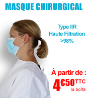 Masque chirurgical Type IIR Haute Filtration >98% - Boîte de 50 - ROBE medical