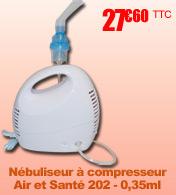 Nébuliseur compact à compresseur Air et Santé 202 - 0,35ml