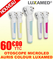 Otoscope nouvelle génération MicroLED Auris 2.5V Colour your Day LUXAMED