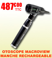 Otoscope Macroview FO Welch Allyn avec manche rechargeable