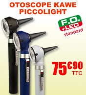 Otoscope �clairage fibre optique avec LED Piccolight KAWE