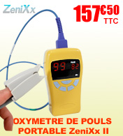 Oxymètre de pouls saturomètre portable ZeniXx II