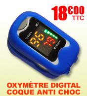 Oxymètre saturomètre avec coque de protection MEKA 300C FAHRENHEIT MÉDICAL