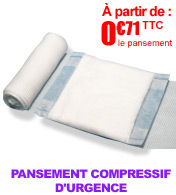 Pansements compressifs d'urgence CHUT First Aid Dressing