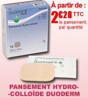 Pansement Duoderm E hydrocolloïde