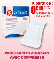 Pansement adhésif avec compresse SOFFIX MED