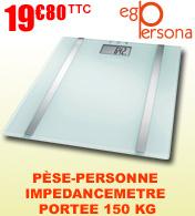 Balance pèse personne impédancemètre Ego Persona - Portée 150 Kg - White edition