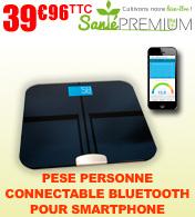 Balance pèse personne impédancemètre connecté bluetooth pour smartphone Santé Premium - 150kg