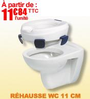 Rehausse WC avec patins antidérapants
