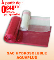 Sac hydrosoluble AQUAPLUS entièrement soluble