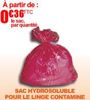 DISSOLVO Sac à ouverture hydrosoluble pour le linge contaminé