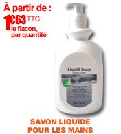 Savon doux pour les mains liquid soap