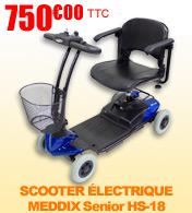 Scooter électrique 4 roues pliable ZeniXx HS-18 autonomie 10 km homologué route