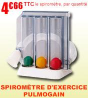 Spiromètre d'exercice Pulmogain