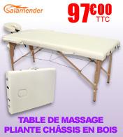 Table de massage pliante en bois largeur 60 ou 70 cm Prune Salamender