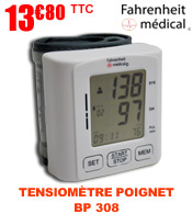 Tensiomètre poignet électronique BP 308 FAHRENHEIT MEDICAL
