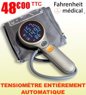 Tensiomètre automatique batterie rechargeable PRO B9 FAHRENHEIT MEDICAL