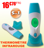 Thermom�tre m�dical infrarouge 5 en 1 Fahrenheit M�dical